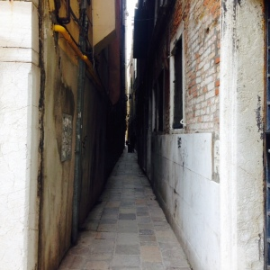 Imagine the fun I had getting through this alleyway with my two suitcases.