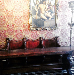 Inside the private offices of the Council of Three.