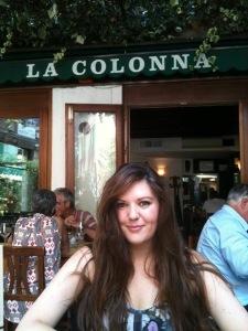 A perfect sunny al fresco lunch at La Colonna.