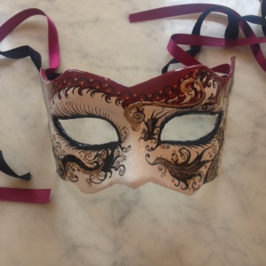 'The Courtney' - my lovely handmade, hand-painted mask from Schegge.